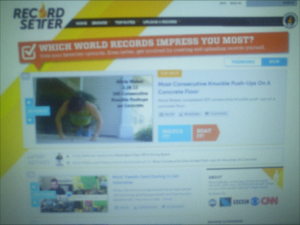 Alicia in # 1 Position for Most Popular World Record on March 1, 2012.
