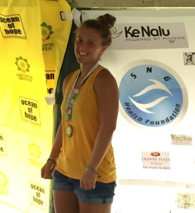 Alyssa Veres won the 6 mile race. Her time was so fast that if she competed in the elite 6 mile prize money race, she would have placed third.