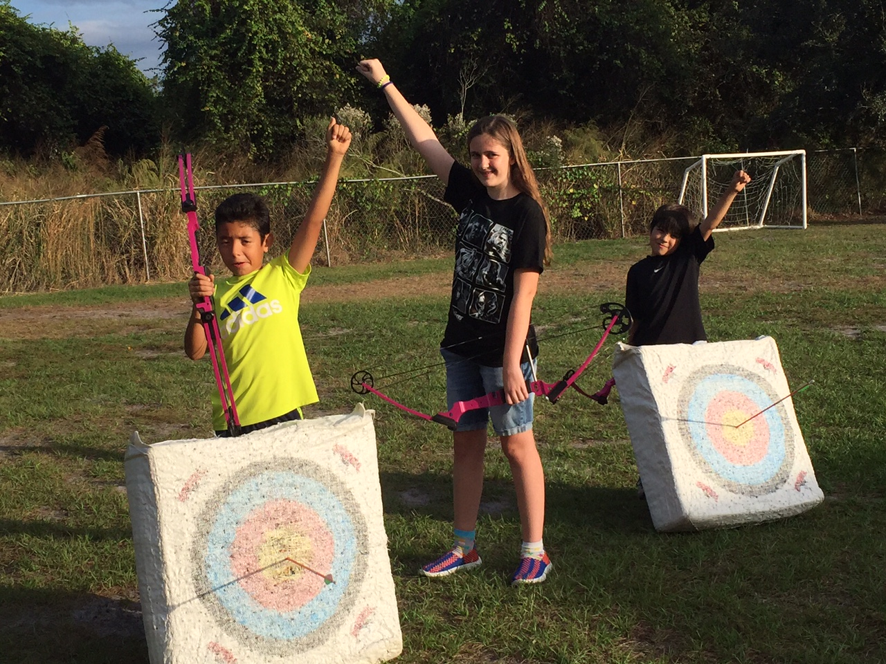 "The Rubies Show Triumph in Their Big Win in the Ready Aim Go Championship.  They broke the tie with the Secret Service by having two ""Xs"" in archery. Sebastian and Matteo each hit a 10x - the highest score in archery enroute to break the tie and sin the championship."