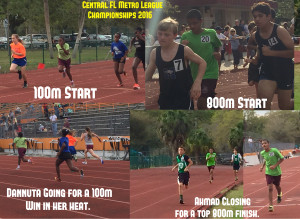 In track action from Central Florida Metro League Championships 2016!