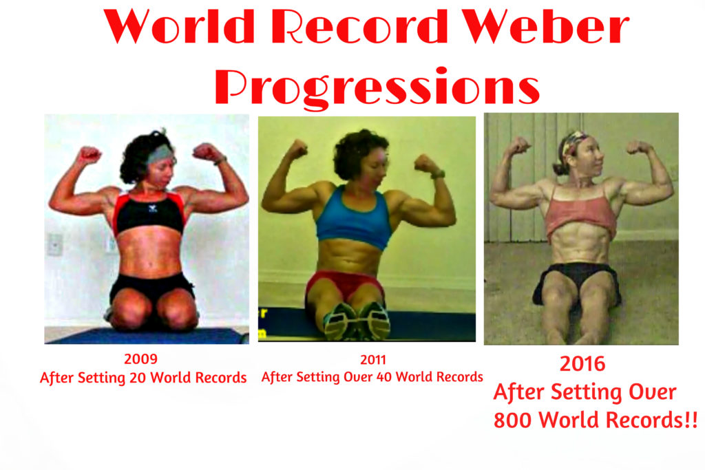 Here you can see Weber's World Record Wonder Woman Development overt the past 7 years.