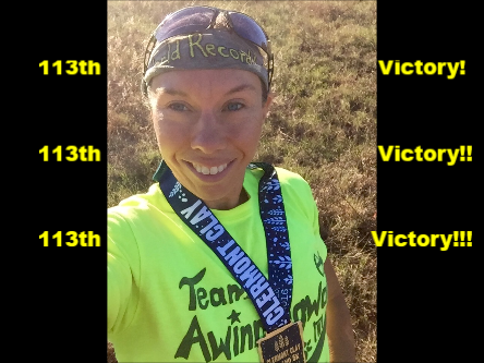 Alicia's 113th victory came on a Clay Trail!